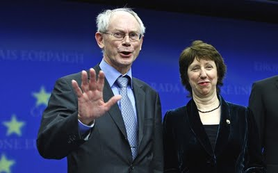 Herman van Rompuy (left) and Baroness Ashton (right)